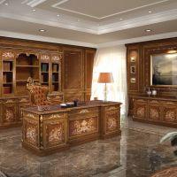 Makam odası ofis masası ahşap dekorasyon