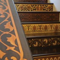 Ahşap merdiven marküteri tasarım