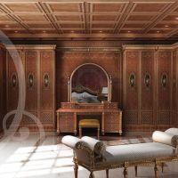 İtalyan tarzı yatak odası desenleri